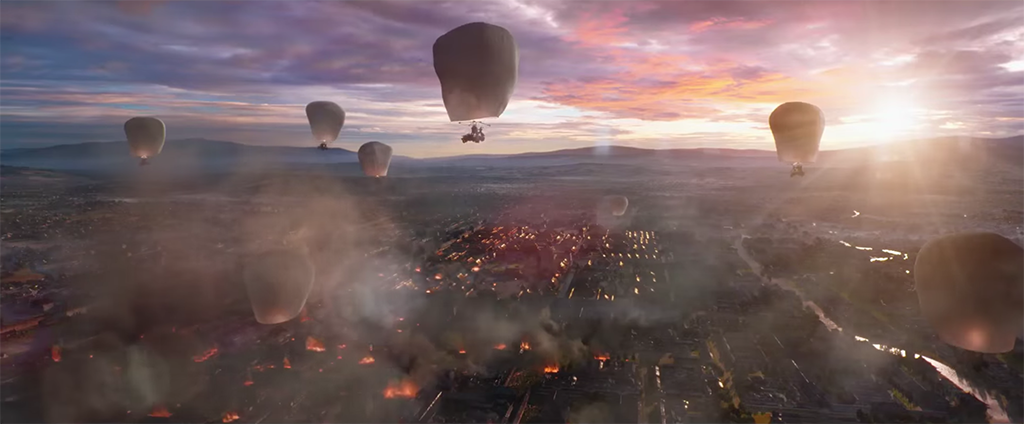 The Great Wall - Hot Air Balloon Scene