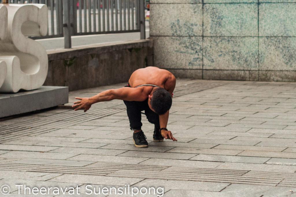 นักแสดงข้างถนนในเมืองฉางชา