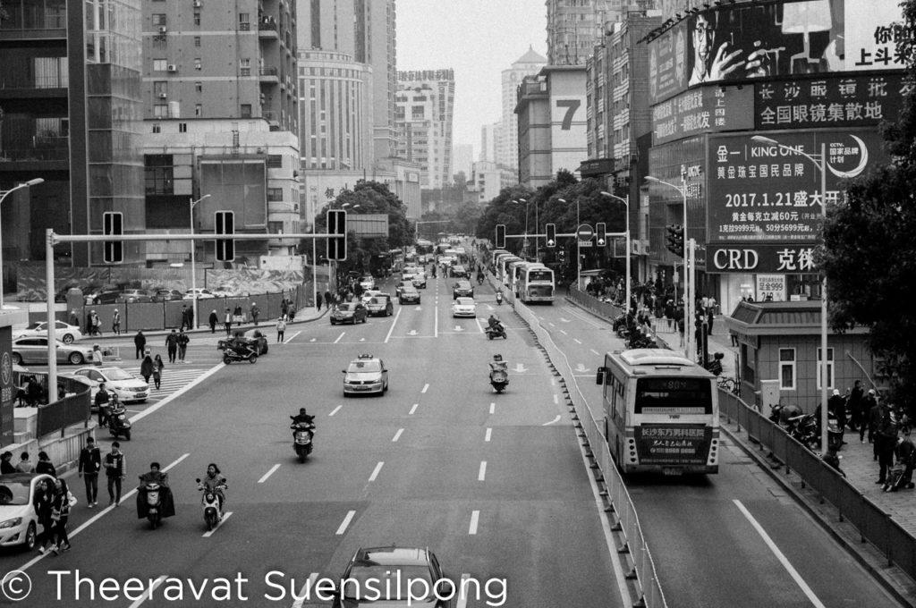 ถนนในเมืองฉางชา