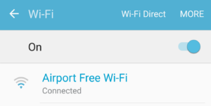 SSID ของ wifi ฟรีที่สนามบินฉางชา