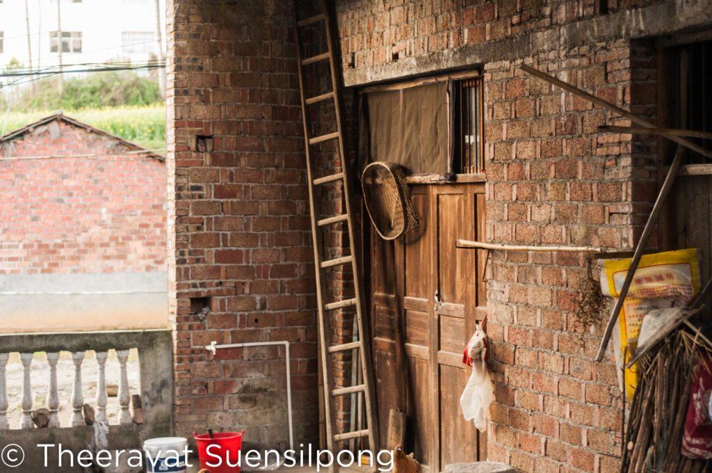 บ้านสมัยเก่าในหมู่บ้านจีน