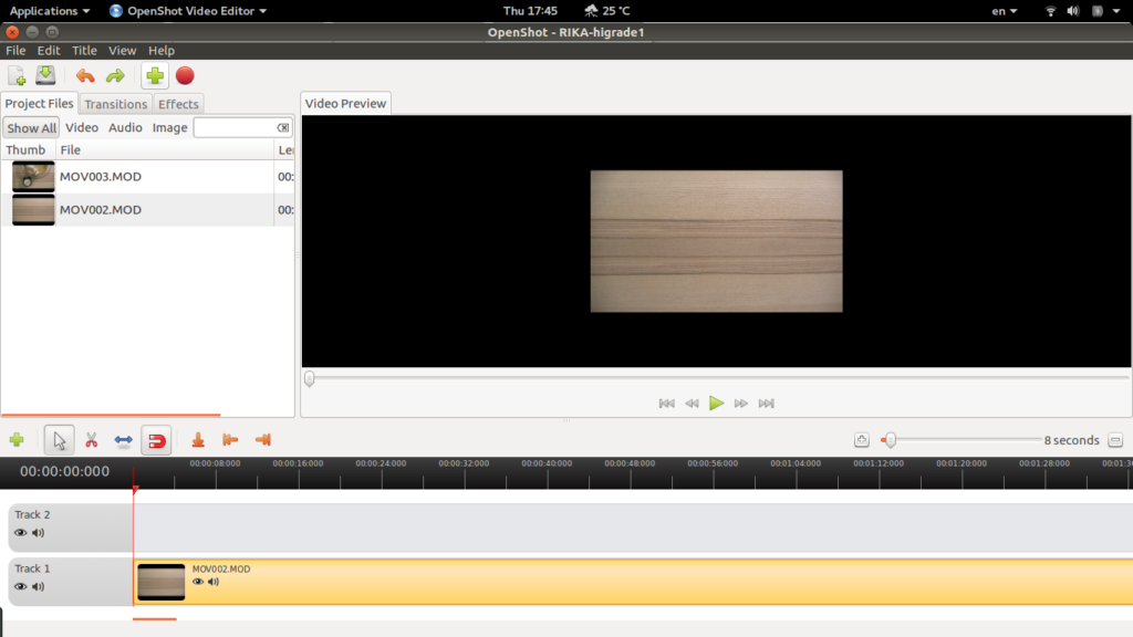 [Openshot] Add video on Squared Video Timeline