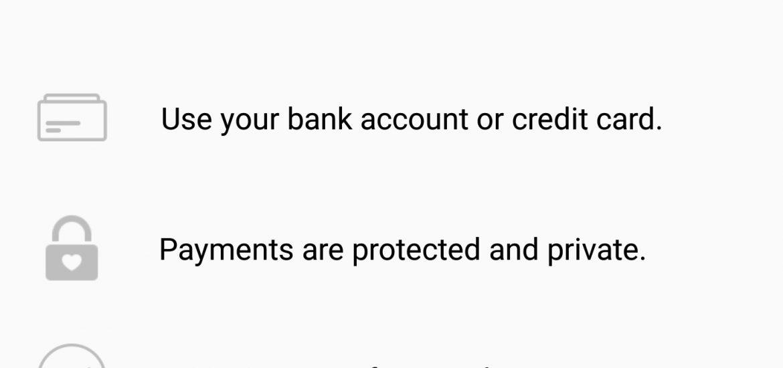 Facebook Payment Registration for Customer