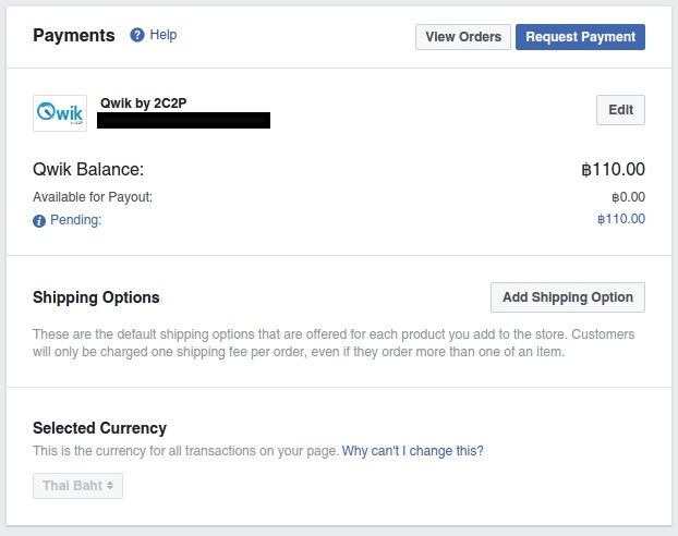 Facebook Page Setting: Payments