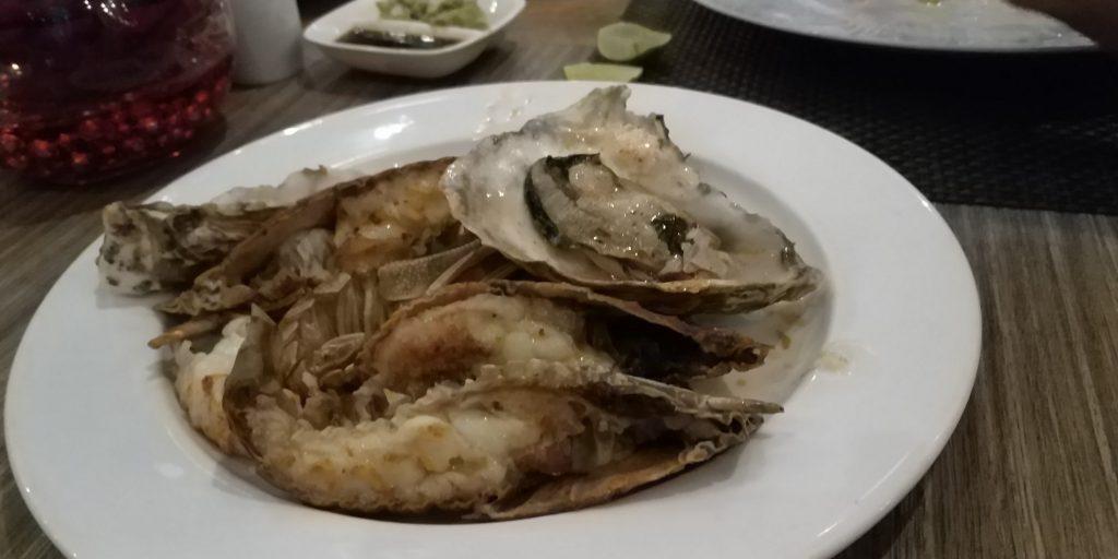 กั้งกับหอยนางรมเกาหลีย่าง